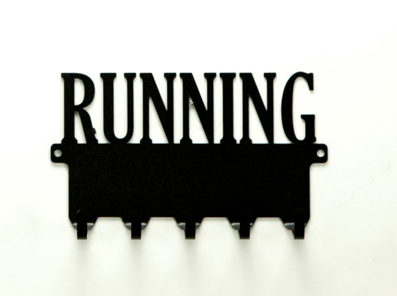 Running Text Metal Art Medals Rack - Free USA Shipping