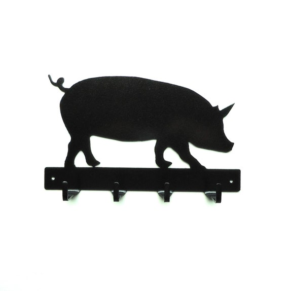 Pig Metal Art Key Rack - Free USA Shipping