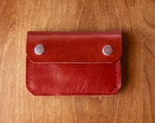 Leather Wallet - The Buddy - In Restoration Red