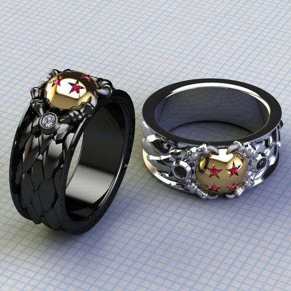 Dragon Ball Z Male Wedding Band Mens Dragon Ball Rings