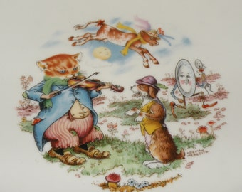 Nursery Rhyme Baby Plate by Kaiser Germany