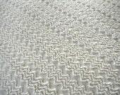 Cabin Crafts Antique White ZigZag Vintage Cotton Chenille Bedspread Fabric  12 x 24 Inches