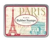 SALE Paris Cavallini Small Rubber Stamp Set