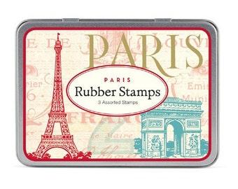 MEGA SALE Paris Cavallini Small Rubber Stamp Set