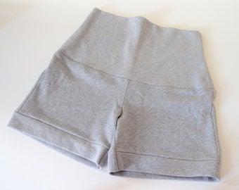 SALE % Hich Waist Shorts -Madeleine- gray mottled