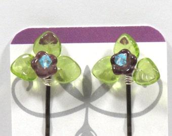 Woodland Flower Hairpins