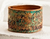 Distressed Jewelry Cuff Bracelet Etsy Love 2016 Leather Jewellery Wristband - Turquoise Teal Leather Goods Leather Items - Valentine's