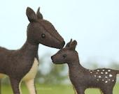 Family of Deer Felt Animal Pattern * Waldorf Inspired Sewing Pattern * Felt Deer Pattern, Buck, Doe, and Fawn * Stuffed Felt Deer