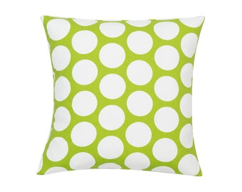 LIME GREEN Pillow Cover.Decorator Pillow Cover.Home Decor.Large Print.DOT.Slipcover. Cushion.Pillow. Premier Prints