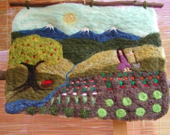 Garden - Felted Wool Wall Hanging (CUSTOM)