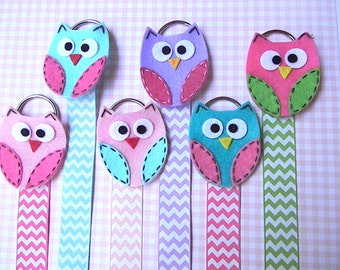 Owl Hair Bow Holder  Bow holder Hair Clip Holder Barrette Holder with Chevron Ribbon