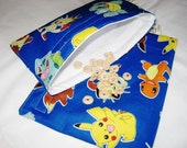 Pokemon Sandwich and Snack Bag Set, Reusable