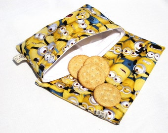 Minions Sandwich and Snack Bag Set, Reusable