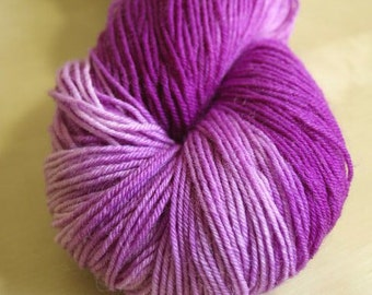 Raspberry Ripple Blue Faced Leicester Sock Weight Yarn