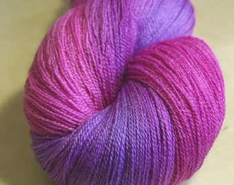 Echinacea Celestial laceweight yarn