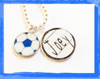 Personalized Soccer Necklace -  Boys or Girls Soccer Necklace  Soccer Jewelry #S72