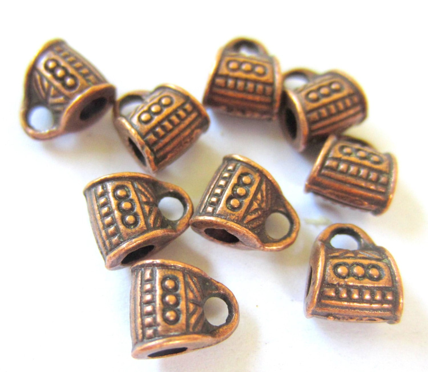24 copper charm hangers jewelry supplies pendant