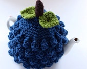 Blueberry Tea Cosy in Pure Merino Wool - Size SMALL - an exclusive Tafferty Designs design - Featured on Official French Etsy Blog