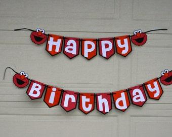 Elmo Birthday Banner, Birthday Banner, Elmo birthday, Elmo theme