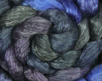 4 oz Merino/Tencel 50/50 Blend Midnight 18.5 micron