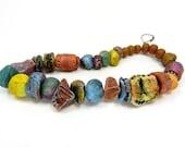 BARGAIN BUNDLE - Ceramic Clay Bead Mix - Craft Jewellery Beads  No. 259