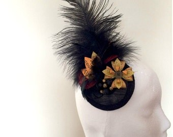 Moulin Rouge Vintage Ticket Fascinator Headpiece