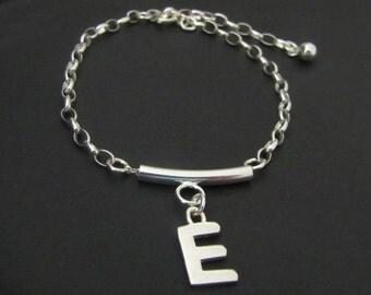Initial Bracelet, Bar Bracelet, Personalized Bracelet, Personalized Jewelry, Sterling Silver, Jewelry, Friendship Bracelet, Gift