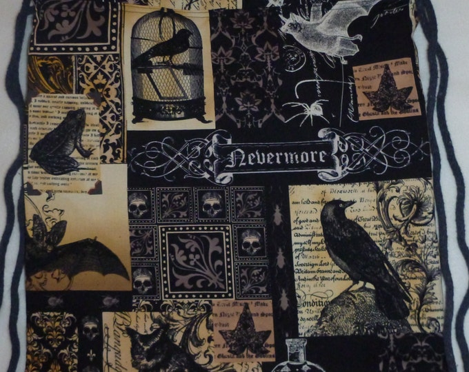 Nevermore Edgar Allan Poe: Backpack/tote ready to ship