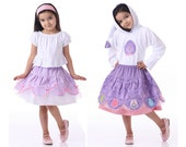 Scalloped Skirt Pattern with Optional Tutu - Twirl Scallopini Skirt for Girls and Dolls by Scientific Seamstress