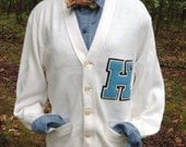 Vintage Varsity Letter Sweater