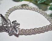Sterling silver bracelet, chainmaille bracelet, silver bracelet,  grape vine bracelet,  Jens Pind silver bracelet