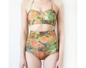 Floral heart two piece