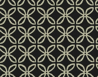 SALE - Michael Miller - Clover Pearlized in Bling Black / Bronze