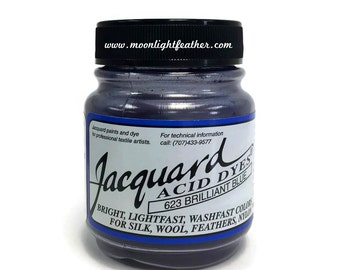 Feather, silk, wool, cashmere and Yarn Dyes - BRILLIANT BLUE Jacquard Acid Dyes - 1/2 Oz : 3729