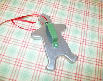 SALE - Midcentury metal gingerbread man cookie cutter