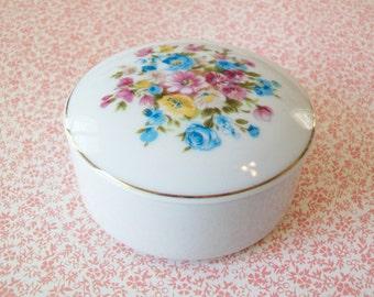 SALE - Norleans China Trinket Box, keepsake box