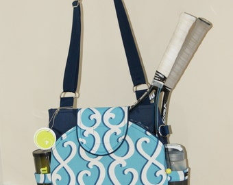 Little Sister to Large tennis Bag with Rounded Pocket.-Made to Order