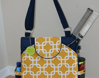 Large Tennis Bag with Rounded pockets- Made to Order!