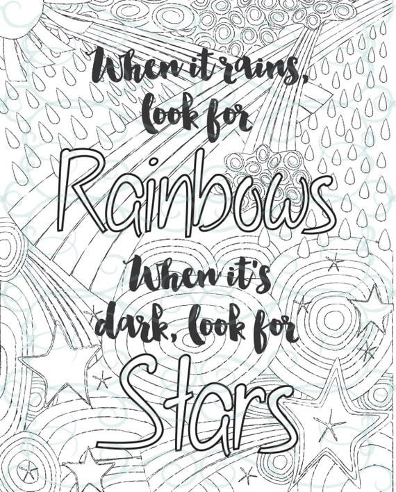 adult inspirational coloring page printable 02 look for rainbows - Inspirational Coloring Pages For Adults