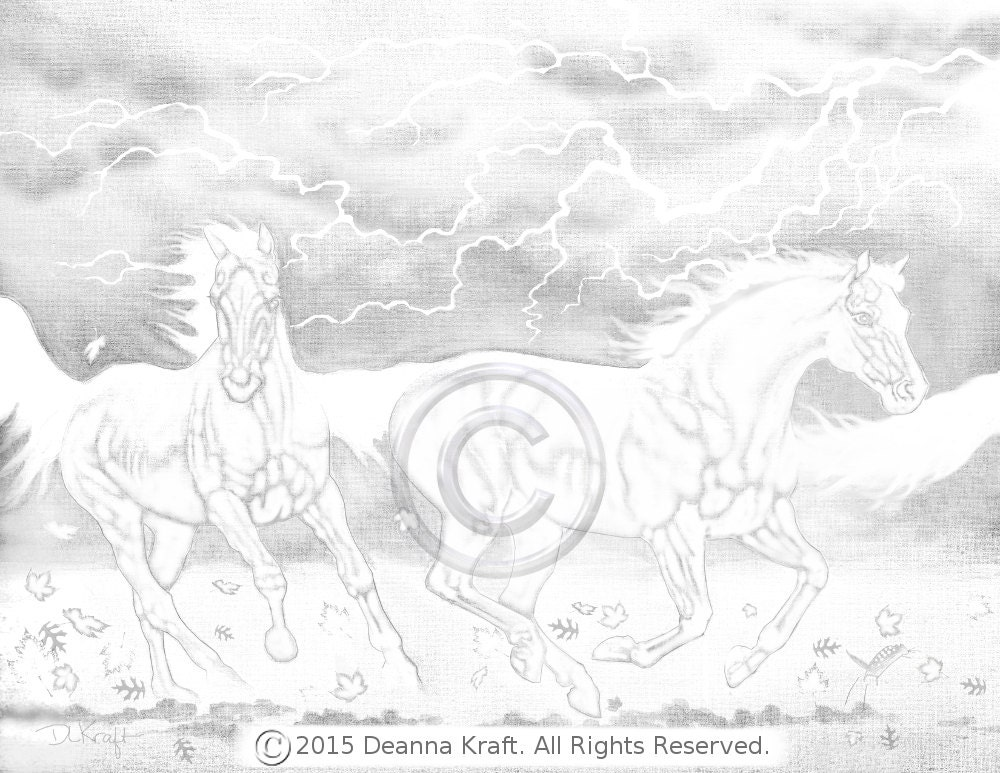 Chimera Horse Horses Coloring Pages Printable