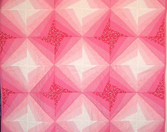 Pink Stars Quilt for Baby Girls Baby Blanket Nursery Bedding