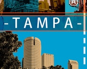 Tampa Canvas Giclee Print - Limited Edition of One / Original / City Scape / Wall Art / Cities / Photography
