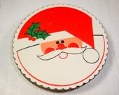 Christmas Paper Coasters, Coctail Coasters, Santa Claus, Red, Holiday Party Supplies, Entertaining, Set of 20, Heavy Weight Paper  (646-15)