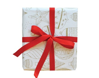 Vintage Ornament Gift Wrap - 3 Single Sheets