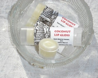 Coconut Lip Balm-Lip gloss-Moisturizing-Oval tube