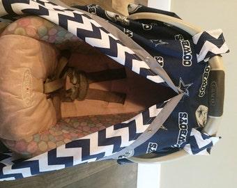 Dallas Cowboys Car seat canopy / car seat cover / nursing cover / carseat canopy / carseat cover