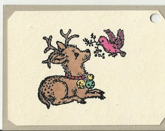 A Deer Friend Christmas Tag-Set of Five