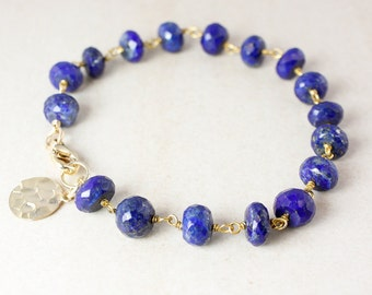 Blue Lapis Charm Bracelet – Choose Your Charm