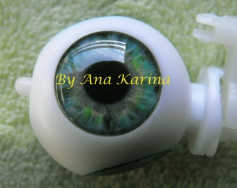 Blythe eye chips OOAK REALISTIC custom set H19, by Ana Karina. UV laminated
