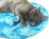 Cat Wool Mat  -  Soft Rug - Catnip Toy - Cat bed - Cat cave